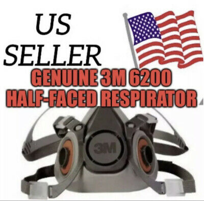 New Half Face piece Respirator 6200 Medium With Cartridges And Filters.
