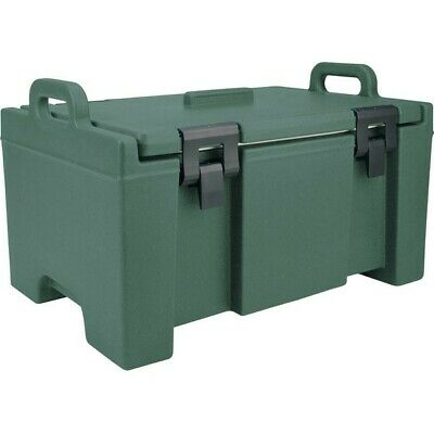 """Cambro UPC100192 Camcarrier Granite Green Top Loading 8"""" Deep Insulated Pan*"""