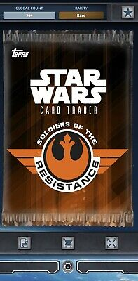 Topps Star Wars Card Trader Tier C Soldiers Of The Resistance Pack Art