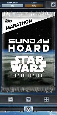 Topps Star Wars Card Trader Tier C Marathons 2019 Sunday Hoard Pack Art