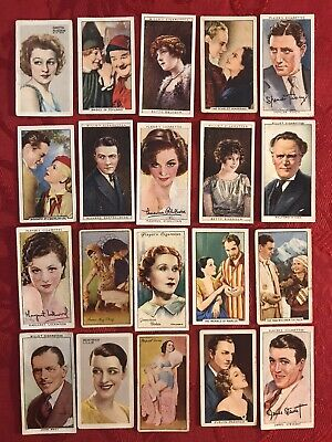 1930'S-Player & Sons-Gallaher-20 Card Lot-Famous Film Scenes & Film Stars & More