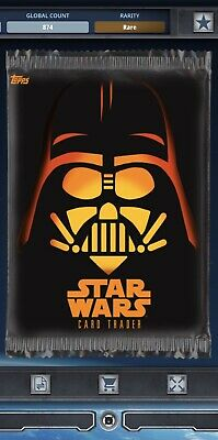 Topps Star Wars Card Trader Tier C Halloween 2017 Darth Vader Pack Art