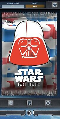 Topps Star Wars Card Trader Tier C 4th Of July 2018 Darth Vader Pack Art