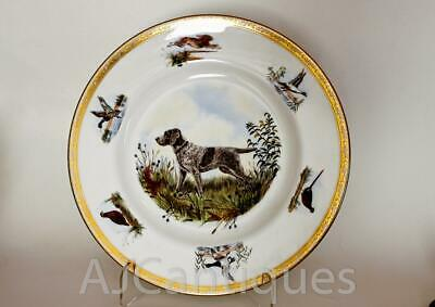 Vintage --Wedgwood-- Kirmse --Wirehaired Pointing Griffon-- Dog Plate--Color