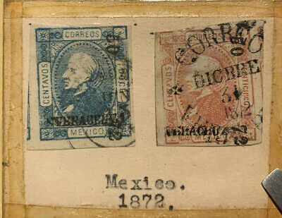 1872 Mexico Used Stamps Lot Of 2