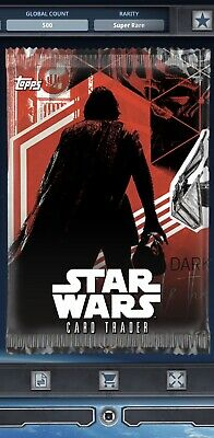 Topps Star Wars Card Trader Tier B TLJ Red Exposure S1 Kylo Ren Pack Art
