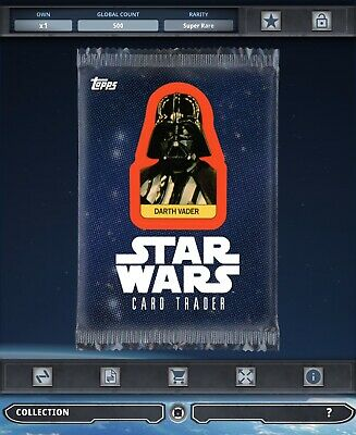 Topps Star Wars Card Trader Tier B Sticker Art Darth Vader Pack Art