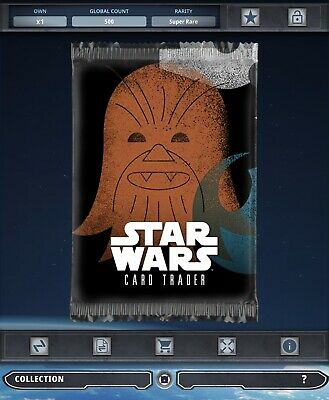 Topps Star Wars Card Trader Tier B Stamped Chewbacca Pack Art