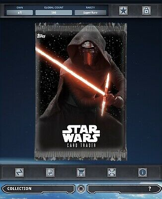Topps Star Wars Card Trader Tier B Spacefarer Kylo Ren Pack Art