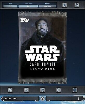 Topps Star Wars Card Trader Tier B Solo Story Widevision Lando Pack Art