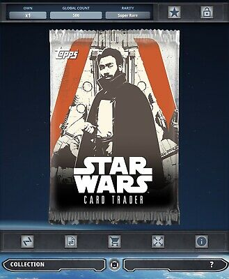 Topps Star Wars Card Trader Tier B Solo Story Scoundrel's Deck Lando Pack Art