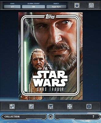 Topps Star Wars Card Trader Tier B Rise Of The Empire Qui-Gon Jinn Pack Art
