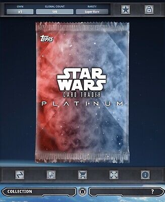 Topps Star Wars Card Trader Tier B Platinum Pack Art