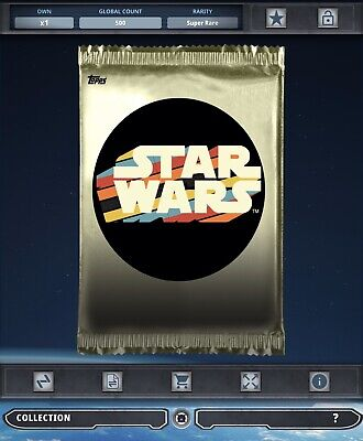 Topps Star Wars Card Trader Tier B Nostalgic Nouveau Pack Art