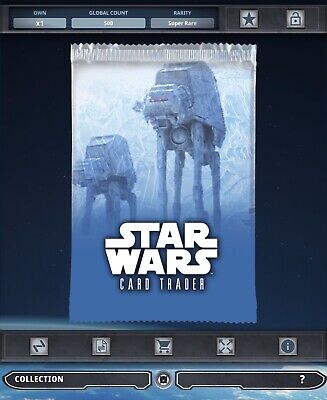 Topps Star Wars Card Trader Tier B Hoth Widevision AT-AT Pack Art