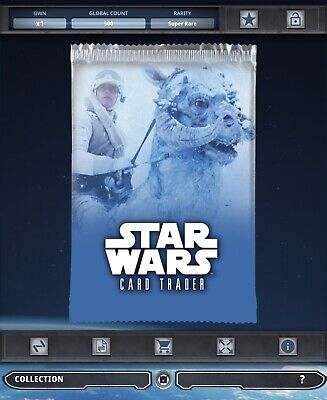 Topps Star Wars Card Trader Tier B Hoth Animated Arctic Luke Skywalker Pack Art
