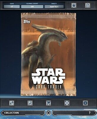 Topps Star Wars Card Trader Tier B Geonosis Creatures Pack Art