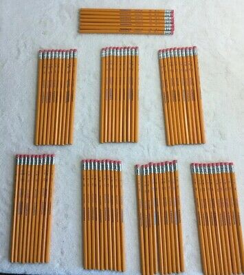 Lot Of 77 Papermate American USA HB No 2 Wooden Pencils With Eraser New No Pkg