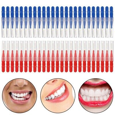 Brush 50pcs Tooth pick Flossing Head Oral Dental Gum Care Teeth Clean Red& T9X3