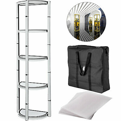 "81"" Aluminum Spiral Display Shelves Half Round Foldable for trade Show Display"