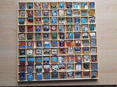 Job lot of 100 memorable badges, Soviet  era period. All made in the USSR.