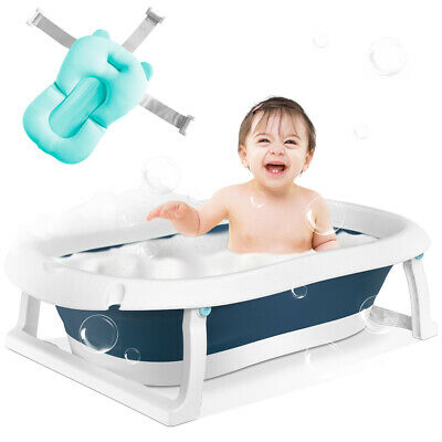 Baby Bath Tub Foldable Infant Portable Collapsible Toddler Bathing Support