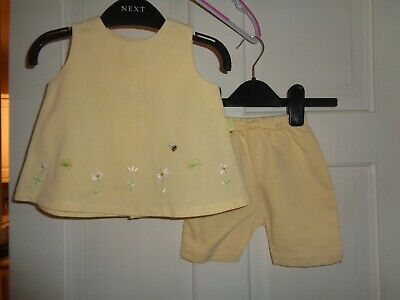 M&S Girls Shorts & Top Set  - 0-3 Months