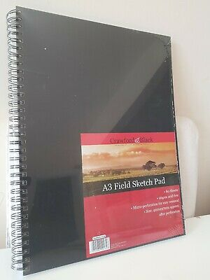 Crawford And Black A3 Field Sketch Pad 80 Sheets 96gsm Size 420x297mm