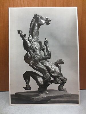 Josef Sudek -  Sculpture by Emil Filla - Original vintage photo - stamped