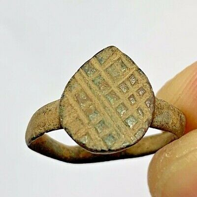BYZANTINE BRONZE RING Detecting Found CIRCA 500-700 18.6mm