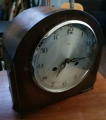 Enfield pre smiths Chimeing Oak Mantel Clock