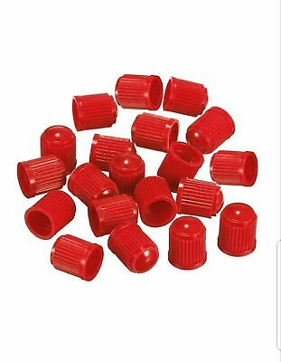 20 Red Plastic Tyre Valve Dust Caps Schrader Bmx Car
