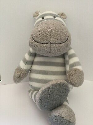 BRAND NEW John Lewis Striped Hippo Baby Comforter, Soft Toy Rattle