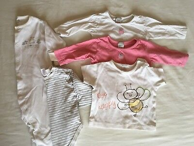 5x NEXT Baby Girl 3-6 Months Clothes Bundle Tops Vest Babygrow