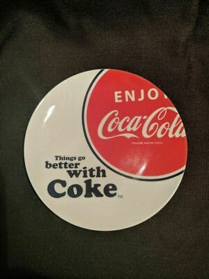 """VINTAGE 7.75"""" dia. """"Things Go Better with Coke"""" Coca Cola Plates"""