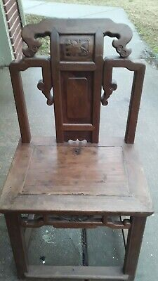 vintage Asian chair hand crafted