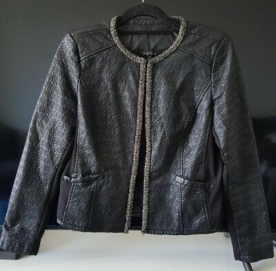 Candy Couture Girls Faux Leather Jacket Size 16 years