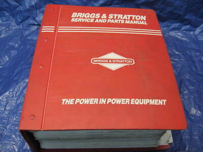 Briggs and Stratton Service Manuals Binder
