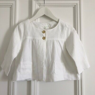 Marie Chantal White Linen Jacket 5 Years Brand New Without Tags £160