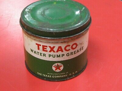 Vintage Texaco Oil Company Water Pump One Pound Grease Can