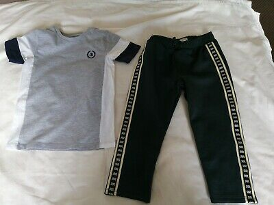 Boys River Island Mini Jogging Bottoms And Tshirt Age 3-4 Years