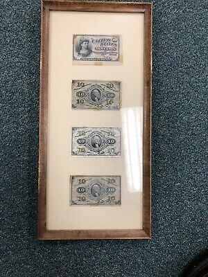 1863 U.S. Ten Cents  Fractional Currency 4 Notes