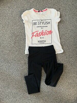 Girls Tshirt Legging Outfit Set Age 7-8 Years George Next River Island