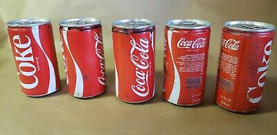 5 Vintage Unopened Coke Cans Cocacola