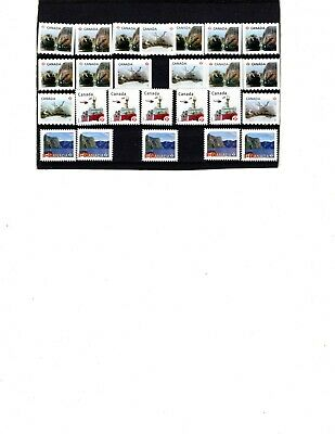 Canada Uncancelled postage, 25 x 'P' on paper Face Value $23  (ITEM X113)