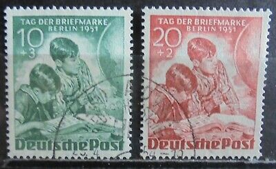 GERMANY (Berlin) 1951 Stamp Day, Set of 2 Used