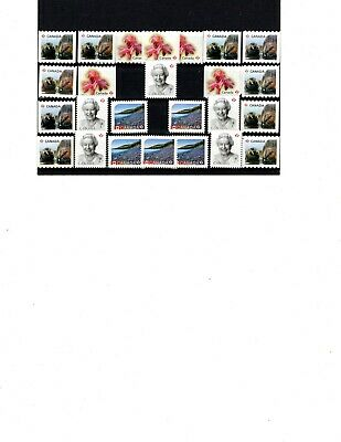 Canada Uncancelled postage, 25 x 'P' on paper Face Value $23  (ITEM X403)