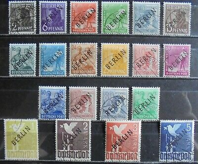 GERMANY (Berlin) 1948 Pictorial Issue, Black Overprint, Complete Set of 20 Used