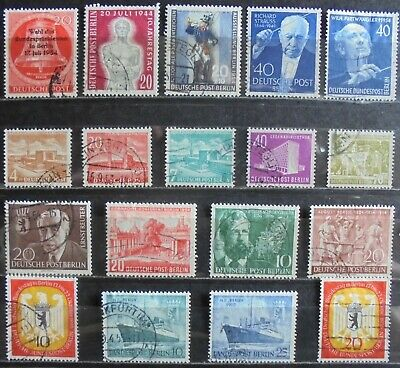 GERMANY (Berlin) 1953-55 Excellent Collection of 18 Used