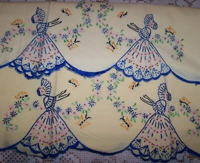 Vintage ESTATE~Southern Belle HND. embroidered Pillowcases